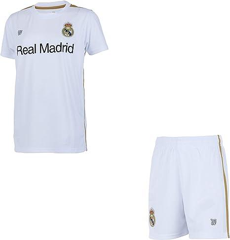 Real Madrid Conjunto Camiseta + Pantalones Cortos Colección Oficial - Niño: Amazon.es: Deportes y aire libre