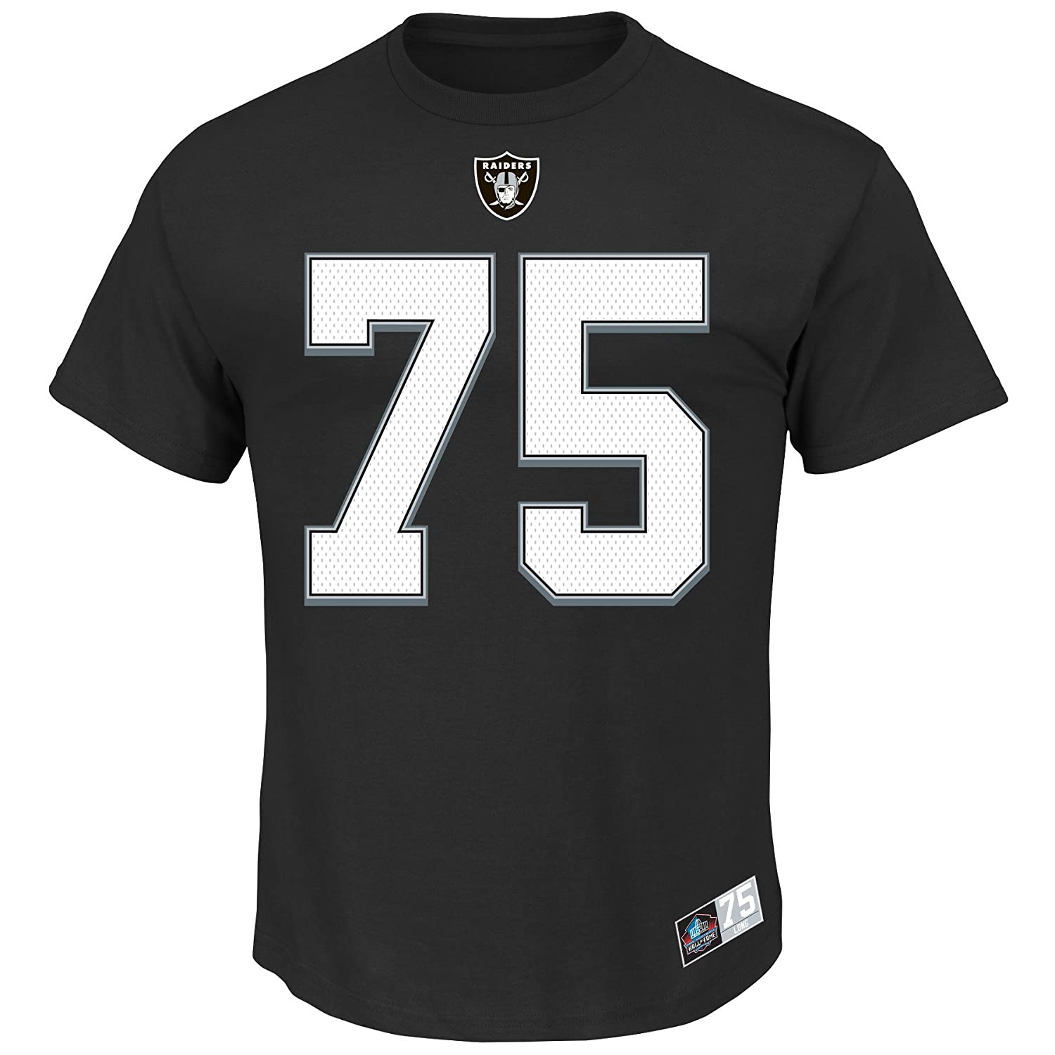 Oakland Raiders 75 Howie Long Black Jersey