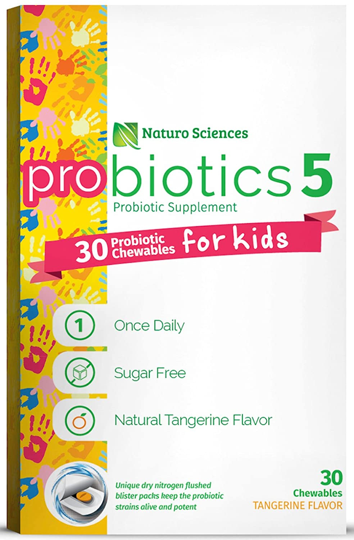 Naturo Sciences, Childrens Chewable Probiotic, Kids Digestive Immune Defense Probiotic
