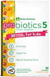 Naturo Sciences, Childrens Chewable Probiotic, Kids Digestive Immune Defense Probiotics, Nitrogen Filled Blister Packs for Best Product Freshness, 30 Once Daily Sugar Free Natural Tangerine Favor