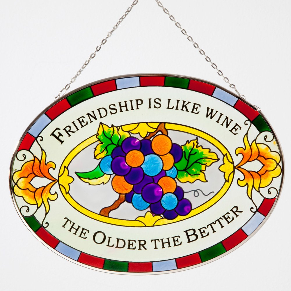 Bits and Pieces - Majestic Friendship Suncatcher - Hanging Home Décor - Beautifully Painted Glass Creates Stunning Window Display