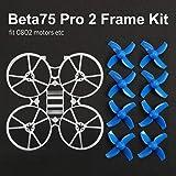 BETAFPV Beta75 Pro 2 FPVフレームキット2セット40mm 4枚ブレードプロペラシャフト系1.0mm青 2S ブラシレスモーターBeta75 Pro 2 Beta65Xフープドローン用