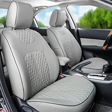 Astounding Perforated Leatherette Tailored Front And Rear Seat Covers Unemploymentrelief Wooden Chair Designs For Living Room Unemploymentrelieforg