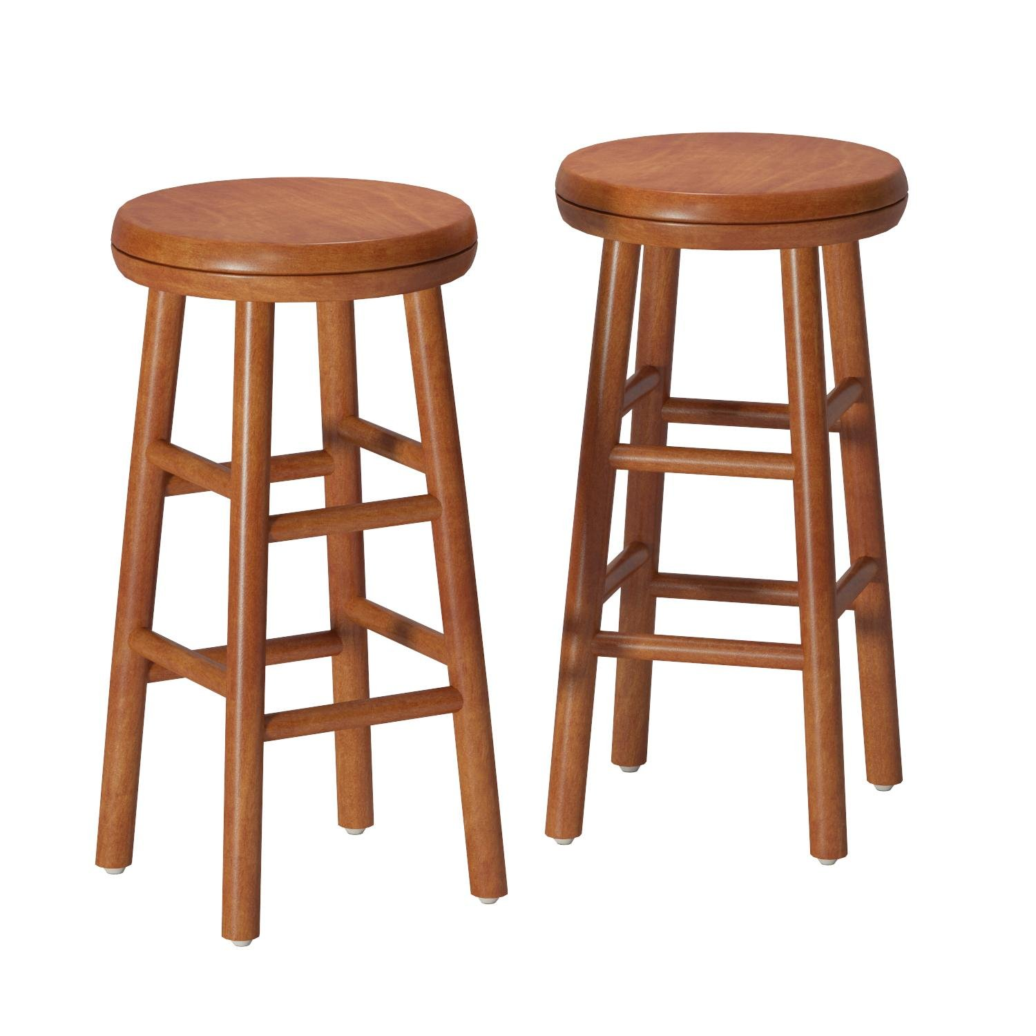 Winsome Wood Assembled 24-Inch Cherry Finish Swivel Stools, Set of 2 by Winsome Wood (Image #1)