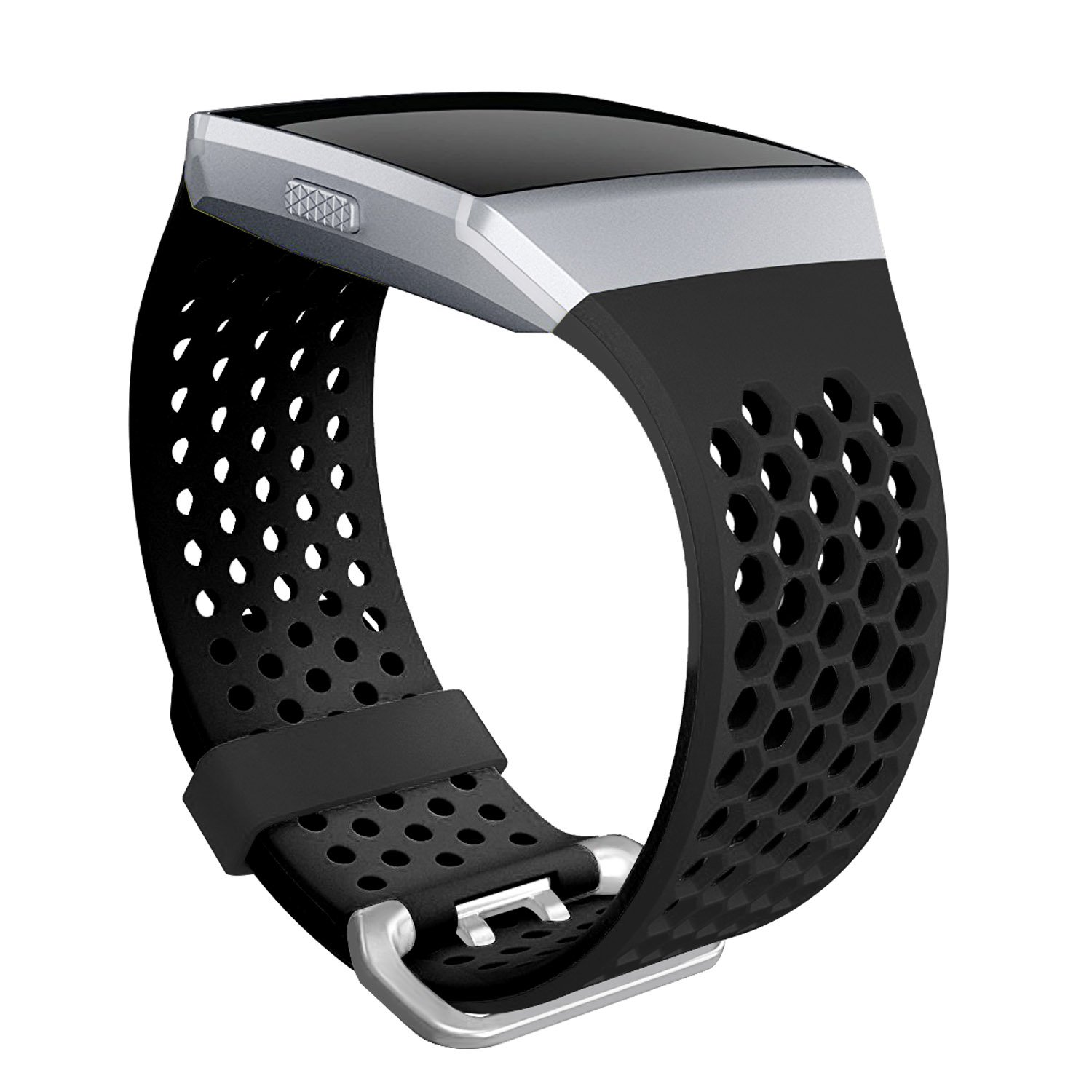 SKYLET Compatible with Fitbit Ionic Bands, Soft Silicone Breathable Replacement Sport Wristband Compatible Fitbit Ionic Smartwatch (No Tracker)