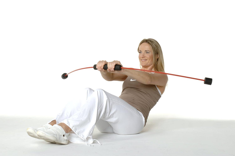Trainingsplan Barra con peso para fitness est/ándar, fitness, infantil color verde talla 118 cm FLEXI-BAR/® Fitnessger/ät inkl