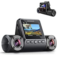 Zerogogo R2 Uber Dual Dash Cam for Cars with GPS Sony Sensor, Infrared Night Vision, Parking Guard, Motion Detection,Super Capacitor