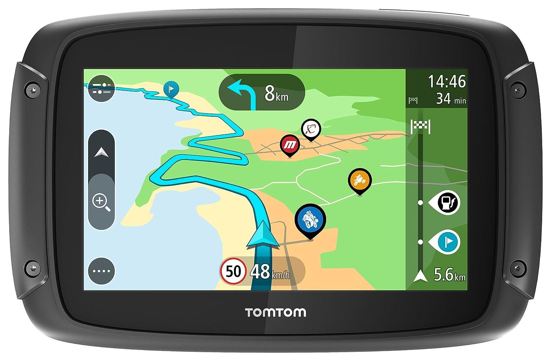 TomTom Rider 500 - GPS para Motocicletas (4.3 Pulgadas con Carreteras montañosas, actualizaciones Mediante Wi-Fi, Compatible Siri y Google Now, ...