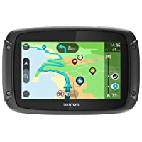 TomTom Motorcycle Sat Nav Rider 500, 4.3 inches, with motorcycle specific winding and hilly roads, updates via WiFi, compatible with Siri and Google now
