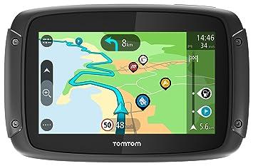 TomTom Rider 500 - GPS para Motocicletas (4.3 Pulgadas con Carreteras montañosas, actualizaciones Mediante