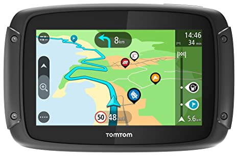TomTom Rider 50 - GPS para motocicletas (4,3 pulgadas con carreteras montañosas,