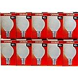 Pack de 10 ampoules à incandescence opaques/mates forme goutte - Culot E14 - 40W