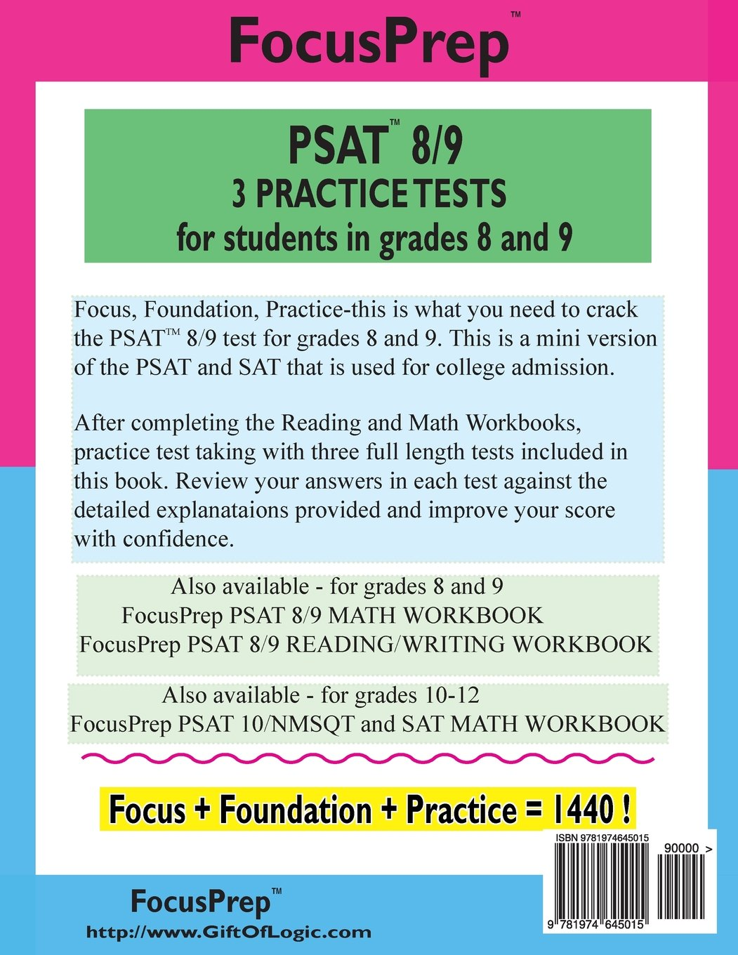 PSAT 8/9 3 Practice Tests: for students in grades 8 and 9: Vivek ...