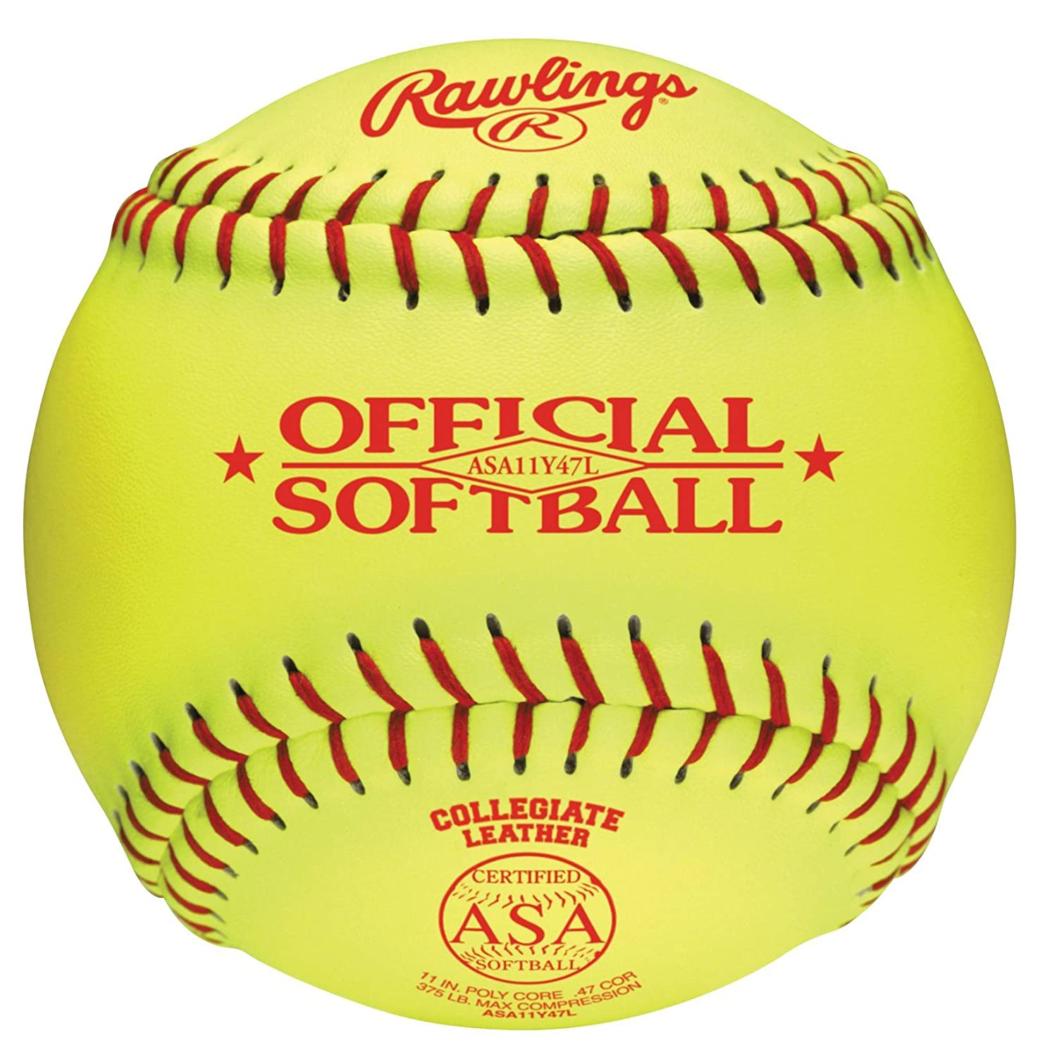 RawlingsレザーカバーASA Fastpitchソフトボールスタンプ(イエロー) 12-Inch B001JHT6PS 12-Inch, 三崎町:30a8e5ce --- sayselfiee.com