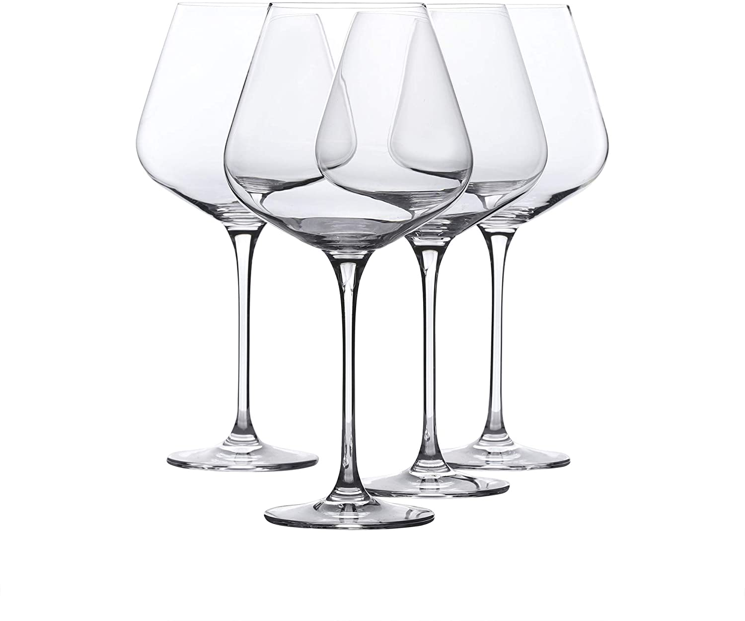 Red Wine Glass - Crystal Glass - Lead Free - Wine Glass Set of 4 (29 Ounce)