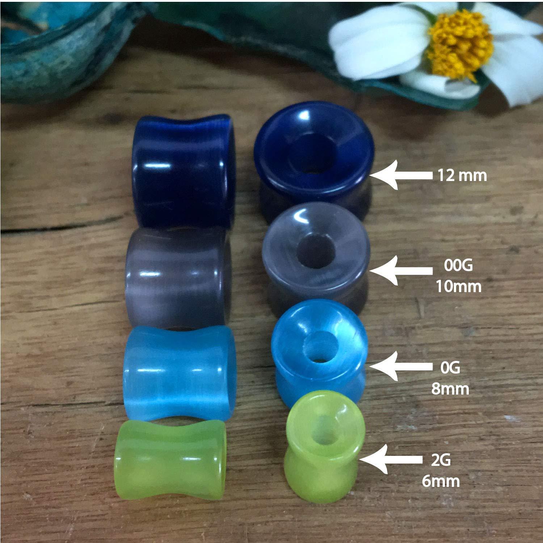 BodyJ4You - 10 dilatadores de dilatación para Oreja de Cristal de Doble Flare 2G-12 mm: Amazon.es: Joyería
