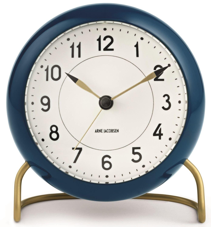 Arne Jacobsen Station Clock/Petrol/Weiß Rosendahl 43678