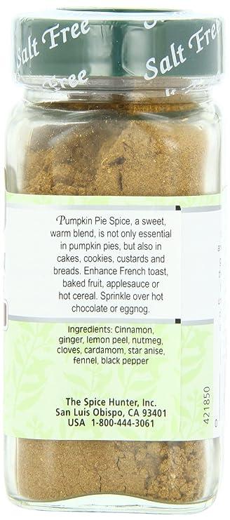 Amazon Com The Spice Hunter Pumpkin Pie Spice Blend 1 8 Ounce