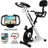 Miweba Sports Indoor Xycling X-Bike MX-100 Ergometer Heimtrainer - 3 Kg Schwungmasse - Pulsmessung - App Anbindung - Klappbar