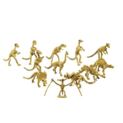 Fun Central 12 Pieces - Assorted Dinosaur Skeleton Figures Toys for Boys, Girls & Toddlers: Toys & Games