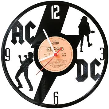 ACDC Wanduhr aus Vinyl Schallplattenuhr Upcycling Design Uhr Wand ...