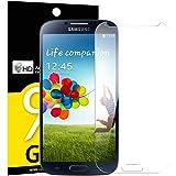 Verre Trempé Samsung Galaxy S4, NEWC® Film Protection en Verre trempé écran Protecteur vitre ANTI RAYURES SANS BULLES D'AIR Ultra Résistant Dureté 9H Protector pour Samsung Galaxy S4