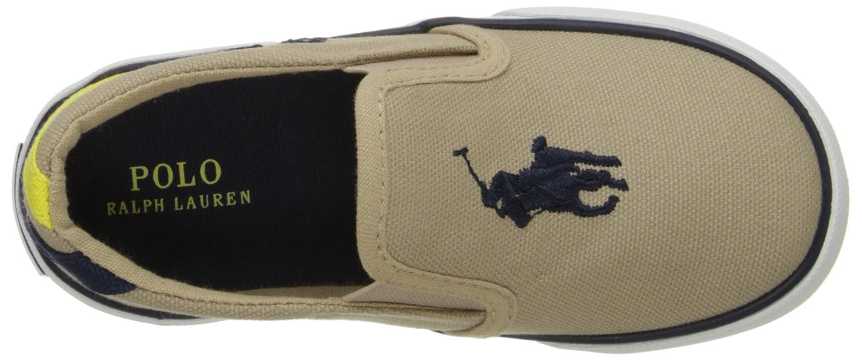 E6268 Sneaker Bimbo Beige Polo Ralph Lauren Scarpe Slip on Canvas Shoe Baby Boy [25] n7MWD