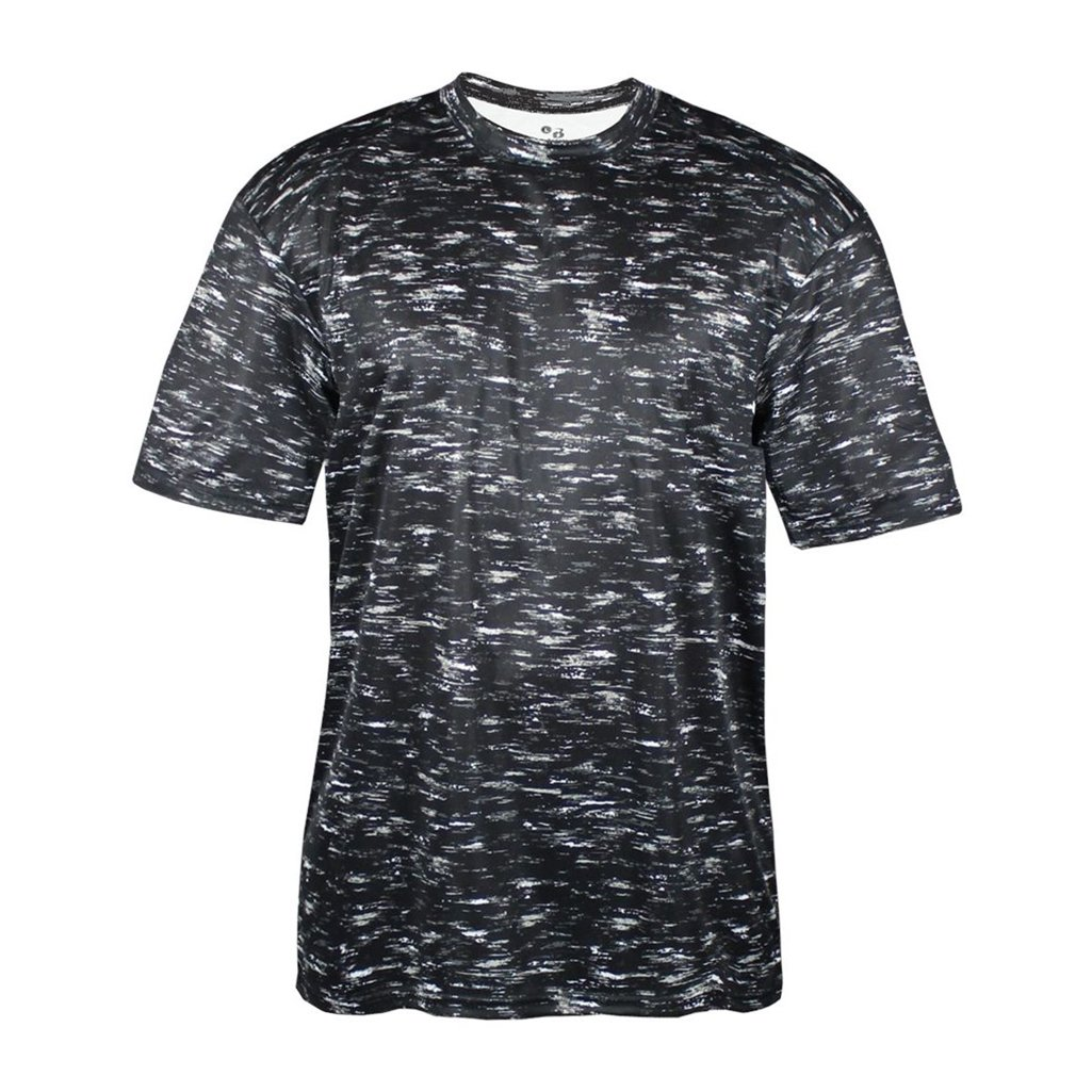 Badger Sport Youth Static Sublimated Tee (X-Small, Black Static Tee)