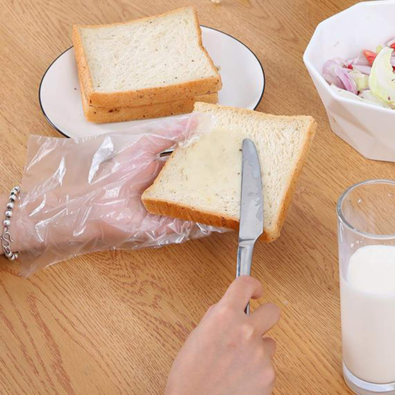 talla /única de pl/ástico Guantes desechables de preparaci/ón de alimentos 500 unidades aptos para alimentos desechables transparente