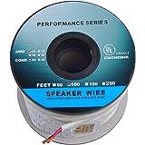 C&E 12AWG Enhanced Loud Oxygen-Free Bare Copper Speaker Wire Cable (100 Feet/30.48 Metre) - Copper
