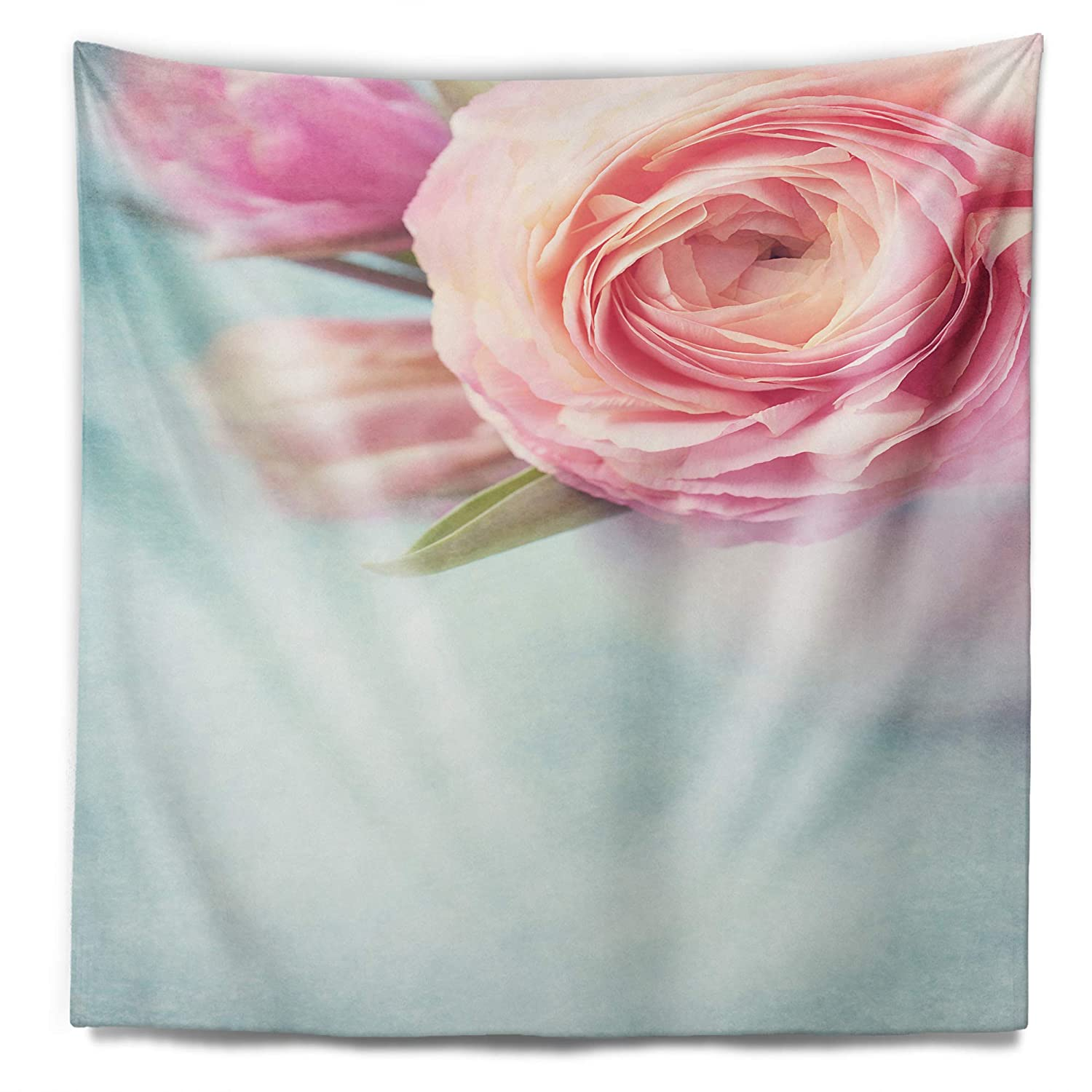 In X 39 In Designart Tap14218 32 39 Full Bloom Pink Flowers In Vase Floral Blanket Décor Art For Home And Office Wall Tapestry Medium 32 In