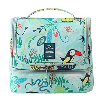 Amazon.com: Portátil bolsa de cosméticos bolsa de aseo para ...
