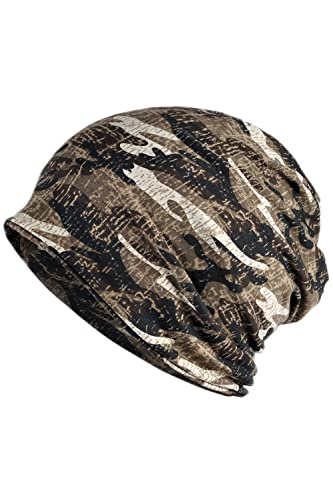Unisex Doble Capa Camuflaje Streetstyle Skullcap Beanie Bufanda Infinito