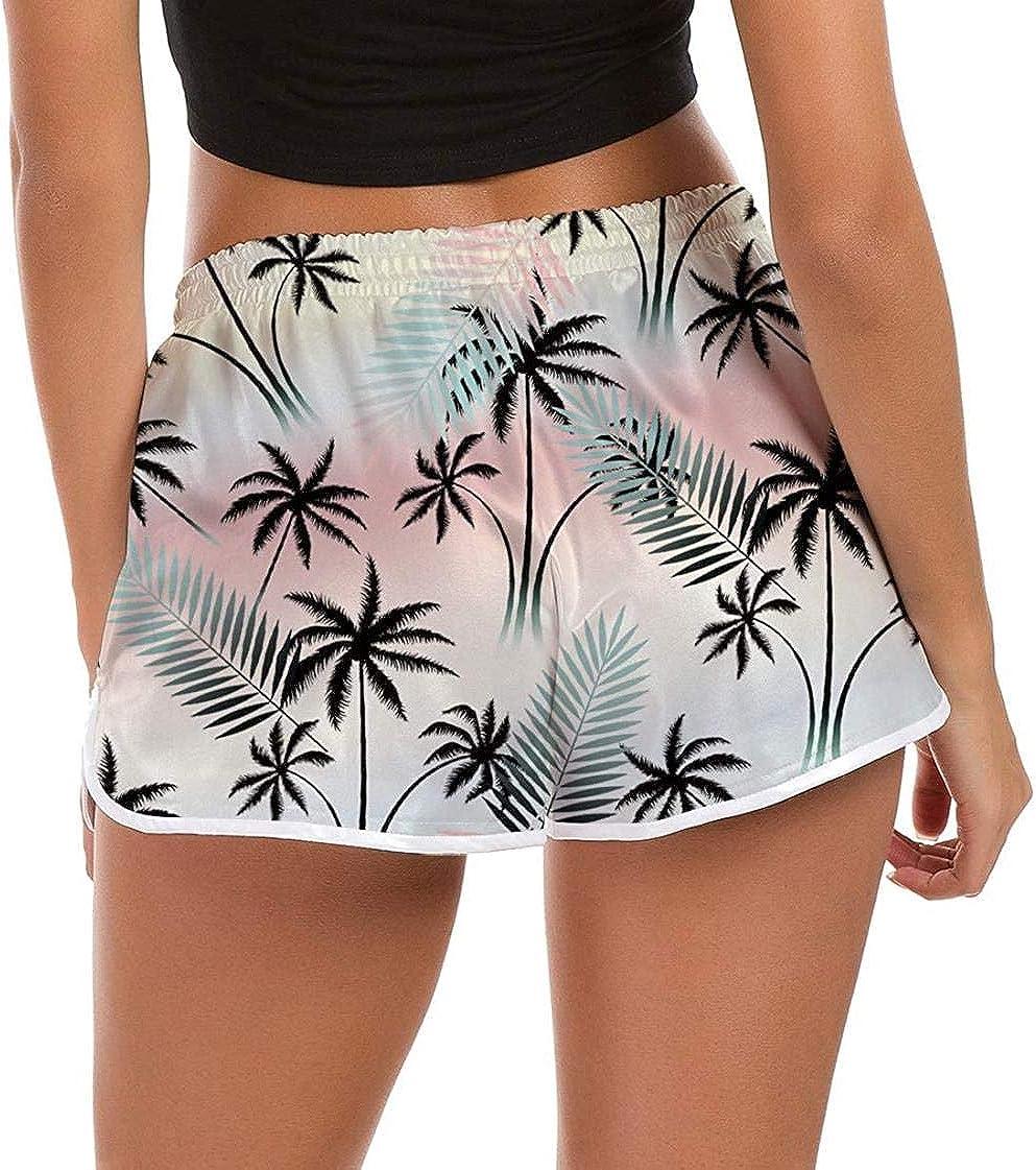 pantalones cortos de ba/ño de estilo casual VLOU de secado r/ápido Ba/ñador para mujer con gr/áficos en 3D