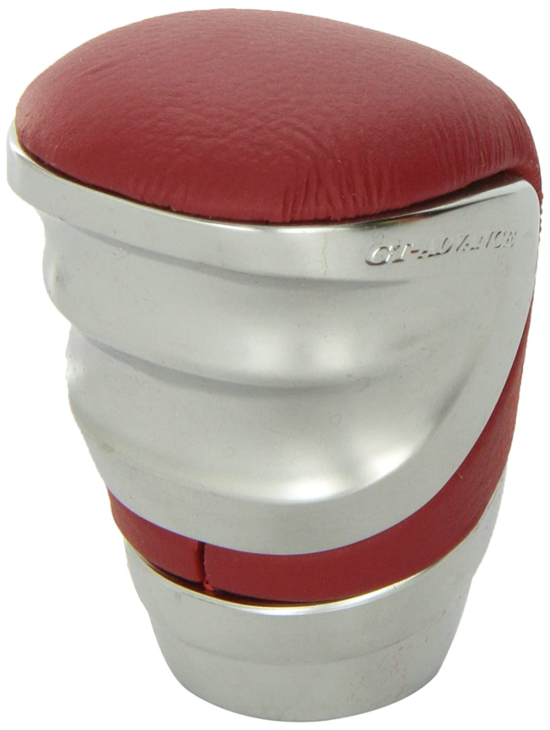 Pack of 1 Car Mate Razo RA96REA GT Advance Red Leather Short Shift Knob