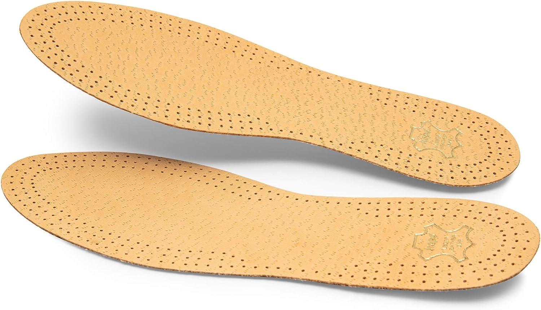 Kaps Lot de 3 paires de semelles de chaussures de qualit/é sup/érieure en cuir de mouton tann/é v/ég/étal de qualit/é sup/érieure et li/ège naturel ensemble de li/ège Pecari