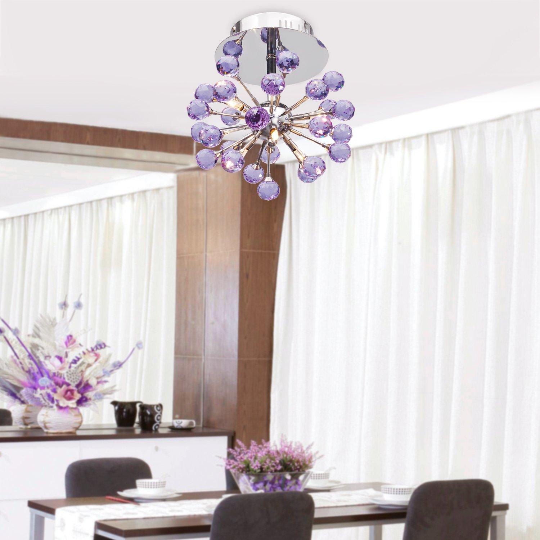 Lightinthebox 6 light floral shape k9 crystal ceiling light purple lightinthebox 6 light floral shape k9 crystal ceiling light purple 0942 9800 chandeliers amazon arubaitofo Image collections