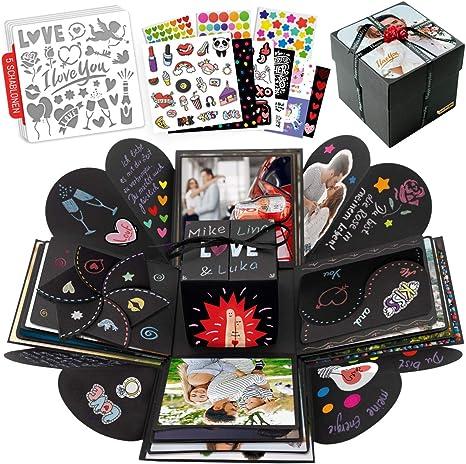 Explosionsbox Fotoalbum DIY Geschenkbox Überraschung Foto Box Set Geschenk DE