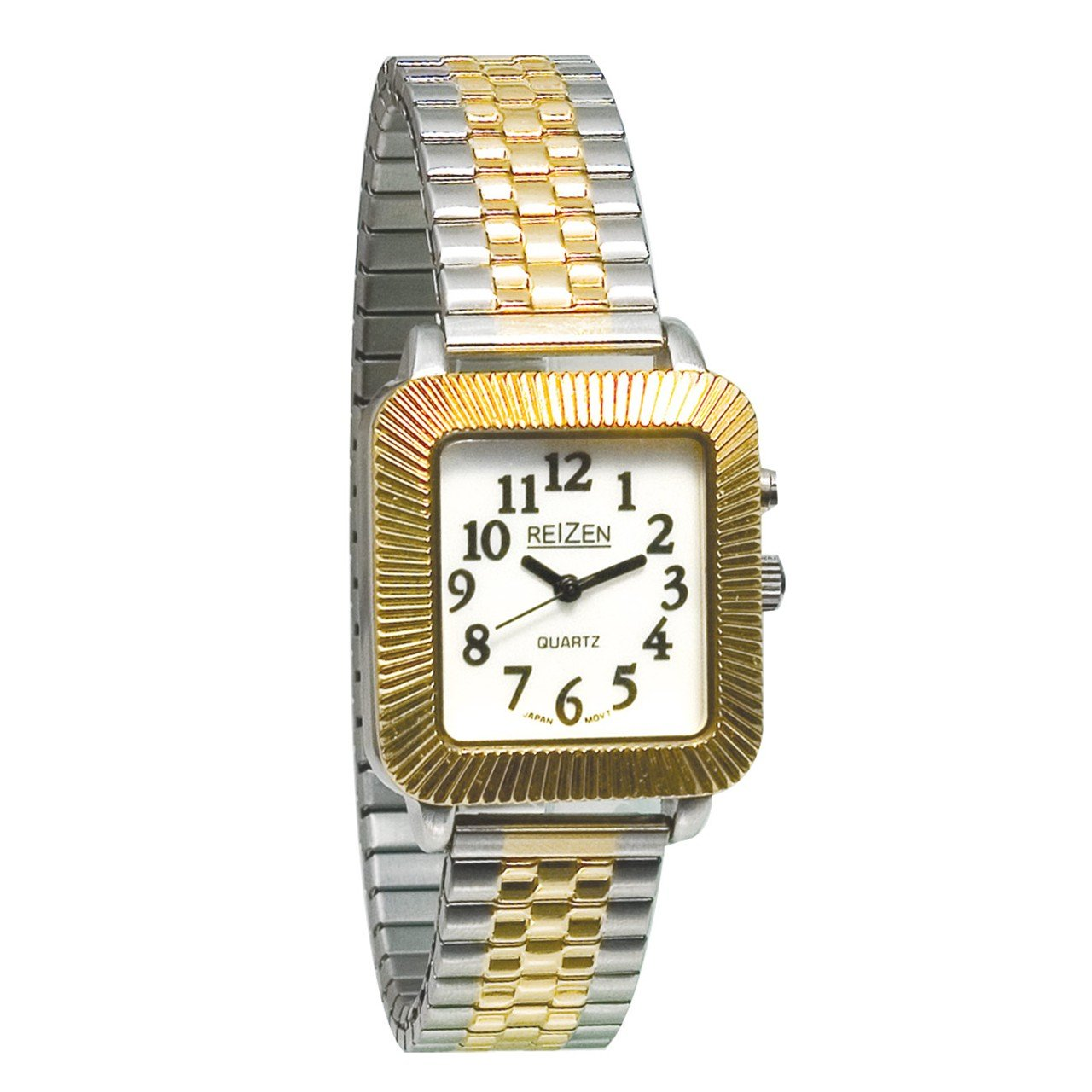 Reizen Unisex Glow-in-the-Dark Watch - Square Face with Expansion Band by Reizen
