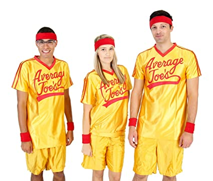 Amazon dodgeball average joes adult yellow jersey costume set dodgeball costume x small chest size 36 solutioingenieria Choice Image