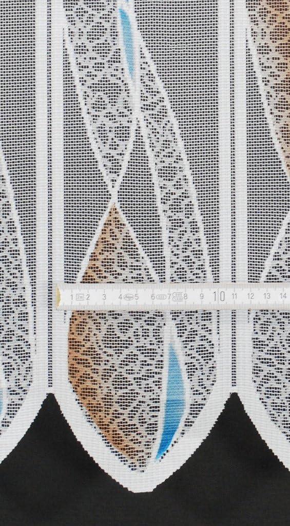 frankgardinen Scheibengardine Welle 110 cm hoch ganz wei/ß Fenster Gardine Kinderzimmer Wohnzimmer Breite frei w/ählbar durch gekaufte Menge in 11,5 cm Schritten