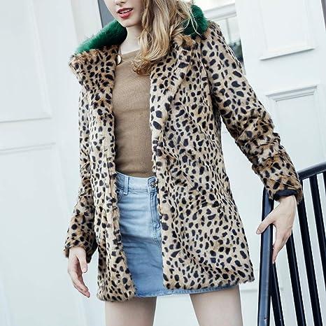 Linlink Mujeres cálidas Invierno Sudadera de Mujer de Leopardo de impresión Jersey suéter de la Capa: Amazon.es: Ropa y accesorios