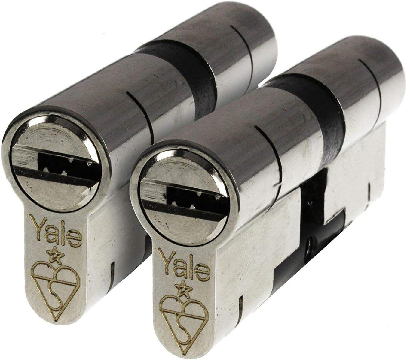70mm Nickel YALE Platinum 3 Star Euro Cylinder Anti Snap Bump High Security uPVC Door Barrel TS2007:2013 Lock 35//35