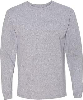 product image for Bayside 5060 Long Sleeve Tee 5.4oz - Dark Ash - Large
