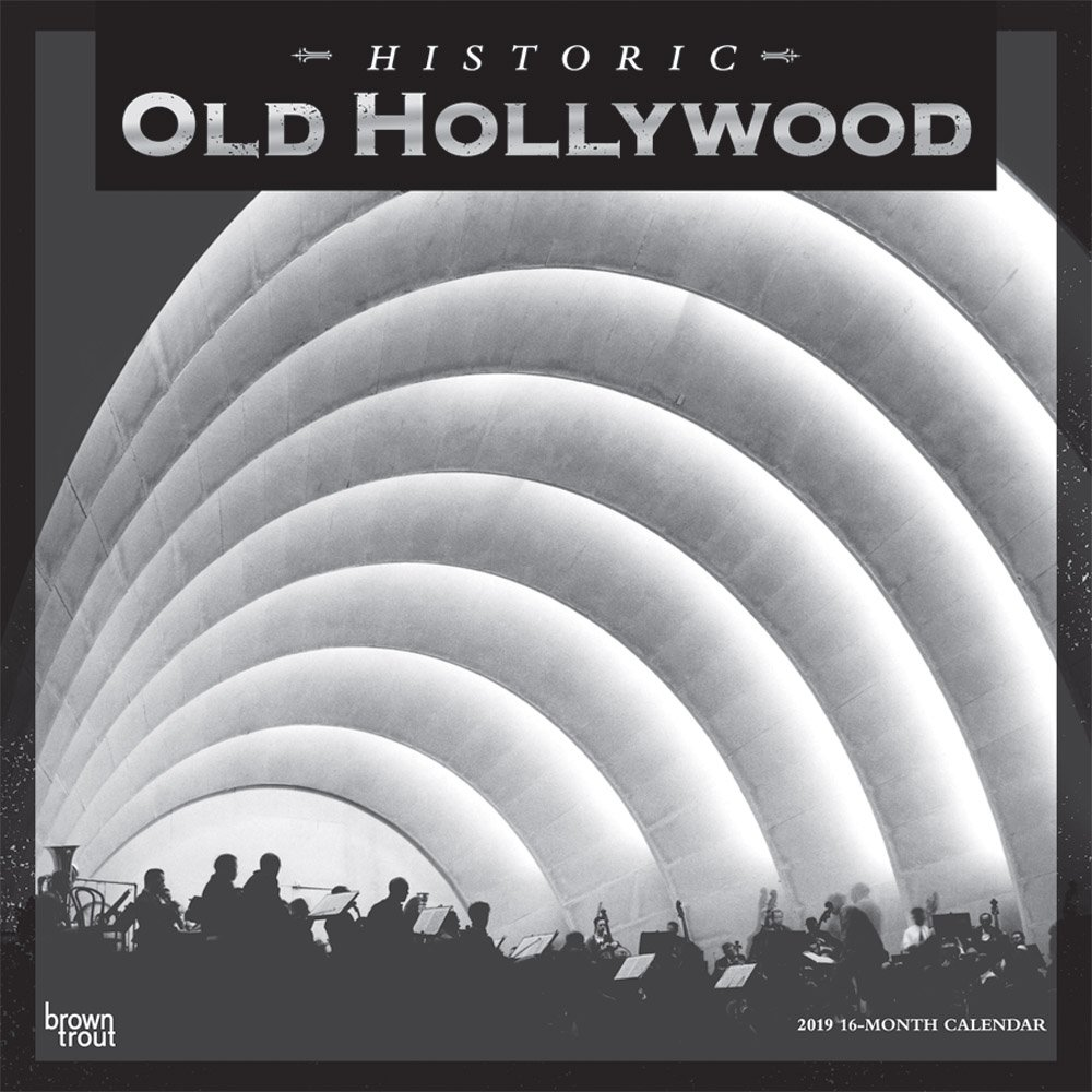 Old Hollywood 2019 12 x 12 Inch Monthly Square Wall Calendar, USA United States of America California Los Angeles Pacific West City (English, French and Spanish Edition)