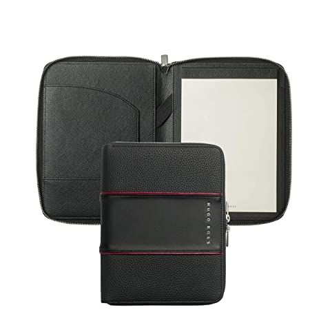 Hugo Boss htm802 a Conferencia carpeta A5 Gear Negro, Medium Rojo