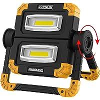 RUNACC LED Luz de trabajo Plegable USB recargable Portátil Luz de inundación Soporte Luces de trabajo con rotación de…