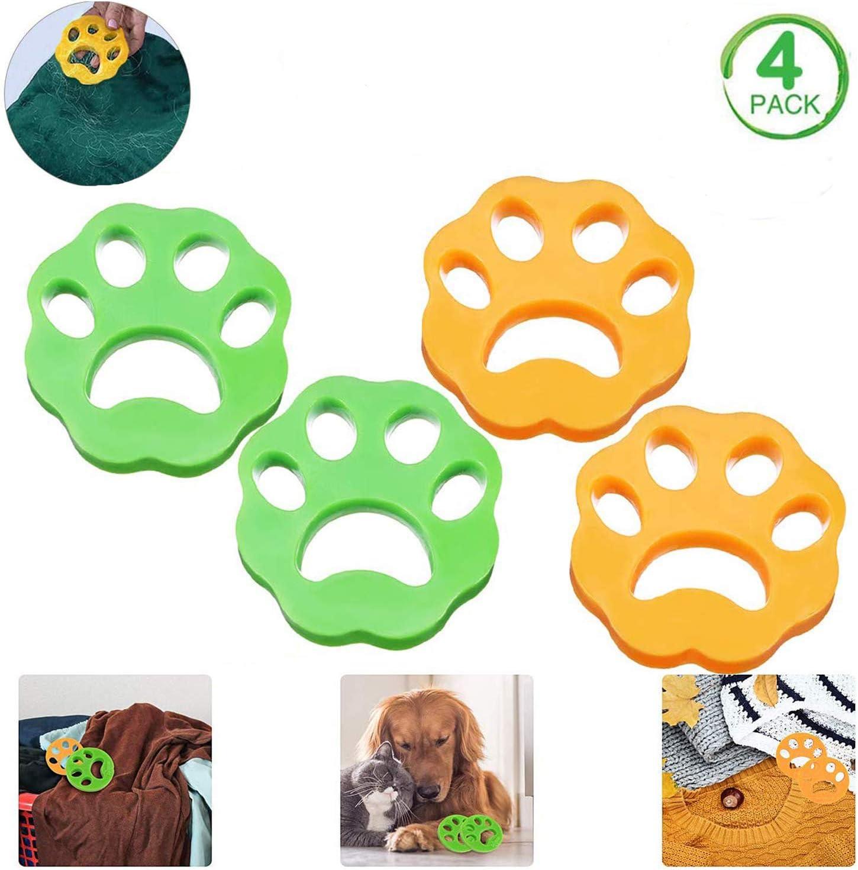 4 bolas antipelos, pelos de animales, limpieza de herramientas, pelos para lavar, polvo y residuos de atrapa pelos de animales que se adhieren a la ropa.