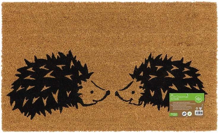 JVL Paillasson en Fibre de Coco avec Dos en Latex respectueux de lenvironnement Latex Fibre de Coco Taille Unique Marron