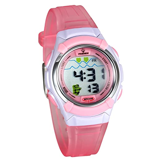 Lancardo 30M Water Resistan Adults Digital Sport Train Wrist Watch(Pink)